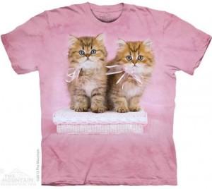 Футболка Pretty Kittens - Милые котята с розовыми бантиками