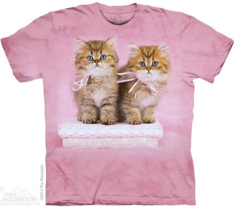 Купить The Mountain Футболка Pretty Kittens - Милые котята с розовыми бантиками