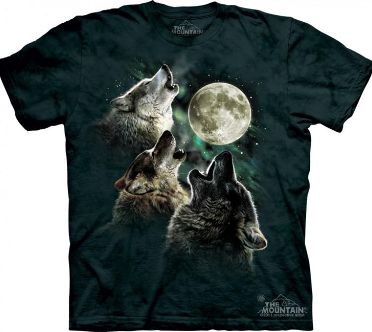 Купить The Mountain Футболка Three Wolf Moon - Три воющих на луну волка