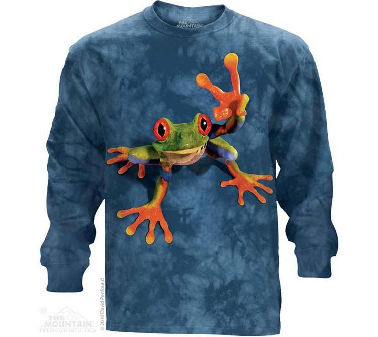 Купить The Mountain Футболка Victory Frog - Лягушка, показывающая символ Виктори (длинный рукав)