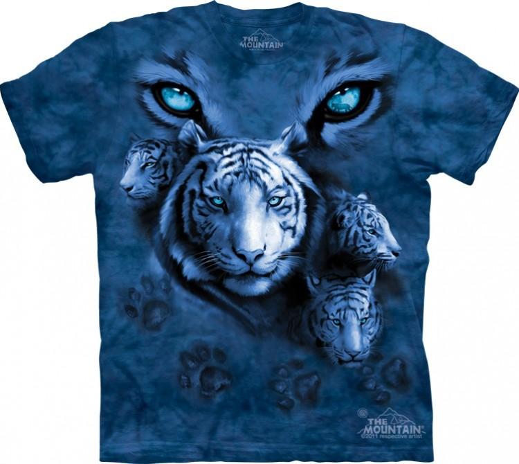 Купить The Mountain Футболка White Tiger Eyes - Глаза белого тигра