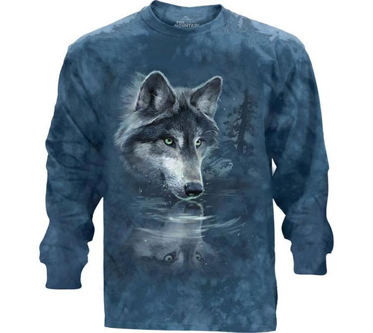 Купить The Mountain Футболка Wolf Reflection - Отражение волка (длинный рукав)