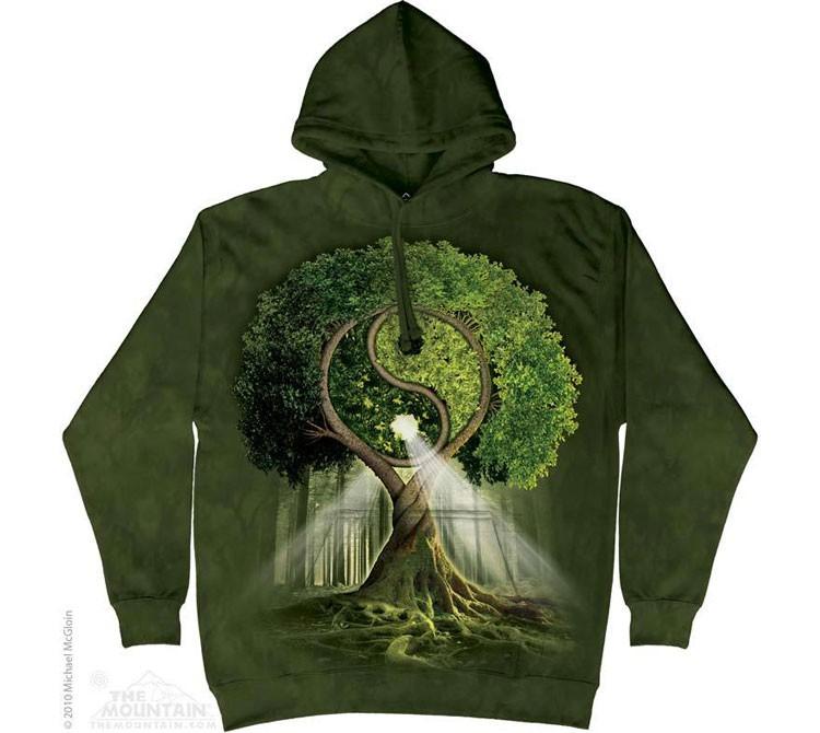 Купить The Mountain Толстовка с капюшоном Yin Yang Tree - Дерево Инь и Ян