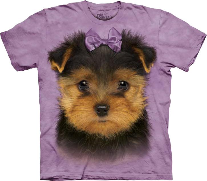 Купить The Mountain Футболка Yorkshire Terrier Puppy - Щенок йоркширского терьера