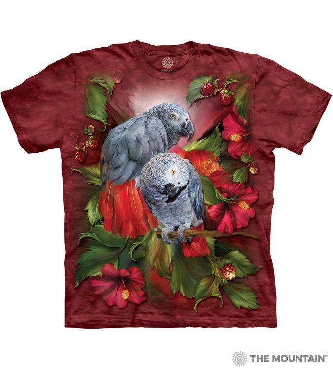 Купить The Mountain Футболка African Gray Mates - Африканские серые попугаи