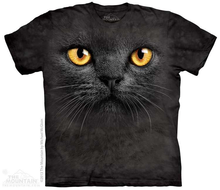 Купить The Mountain Детская футболка Big Face Black Cat - Морда черной кошки