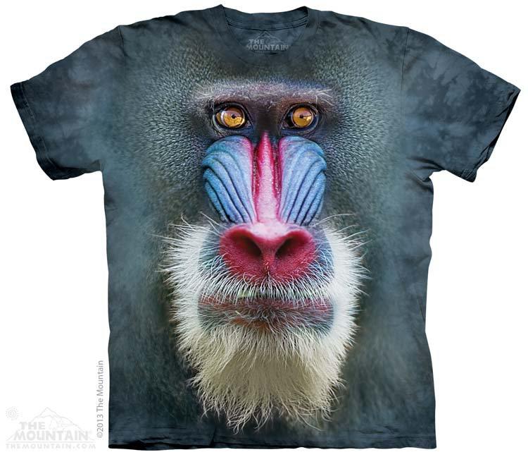Купить The Mountain Детская футболка Big Face Mandrill - Голова мандрила