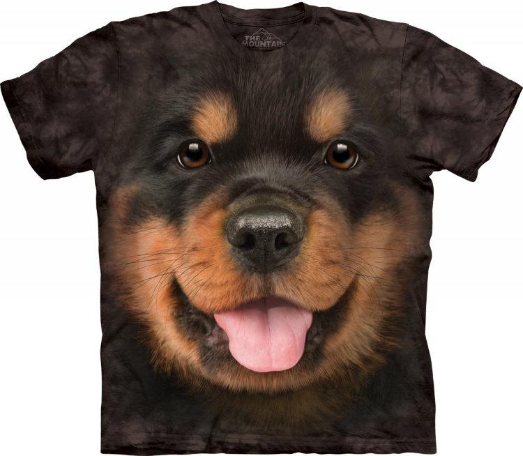 Купить The Mountain Детская футболка Big Face Rottweiler Puppy - Щенок ротвейлера