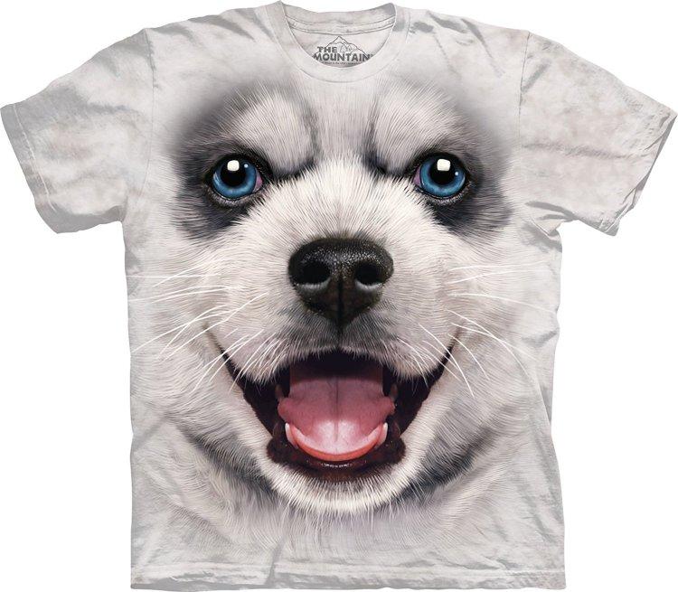Купить The Mountain Детская футболка Big Face Siberian Husky Puppy - Щенок сибирского хаски