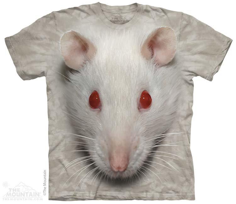 Купить The Mountain Детская футболка Big Face White Rat - Мордочка белой крысы