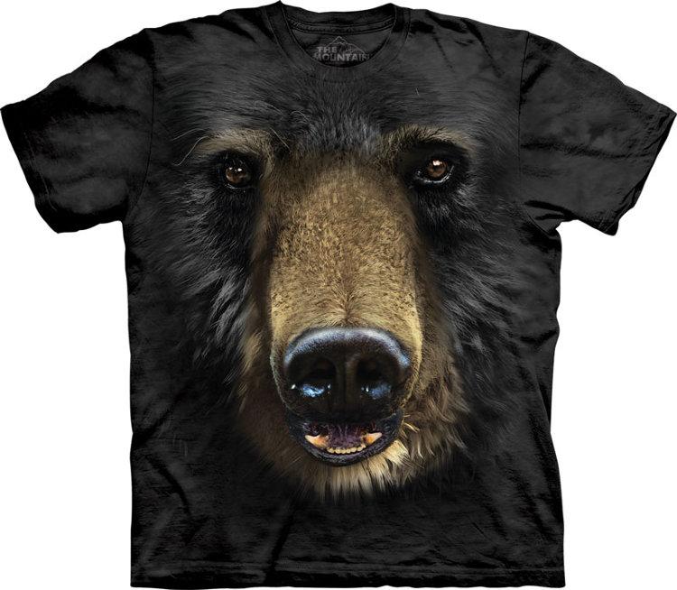Купить The Mountain Детская футболка Black Bear Face - Морда черного медведя