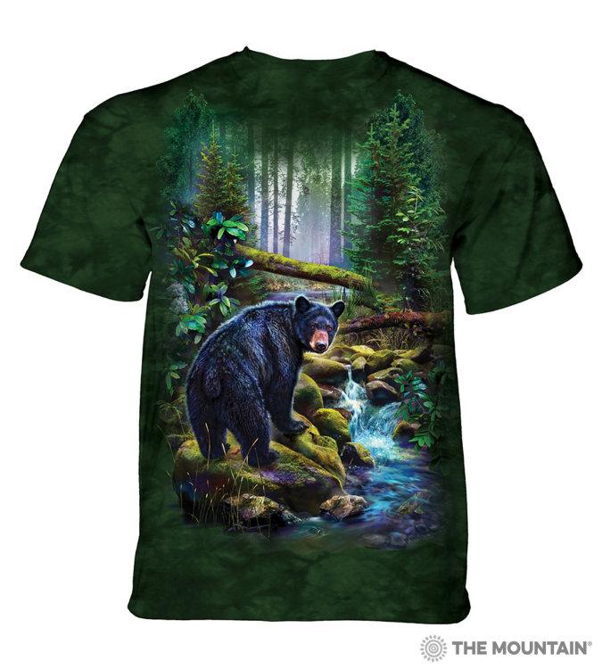 Купить The Mountain Футболка Black Bear Forest - Лес черного медведя