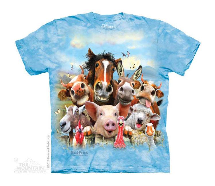 Купить The Mountain Детская футболка Farm Selfie - Селфи на ферме
