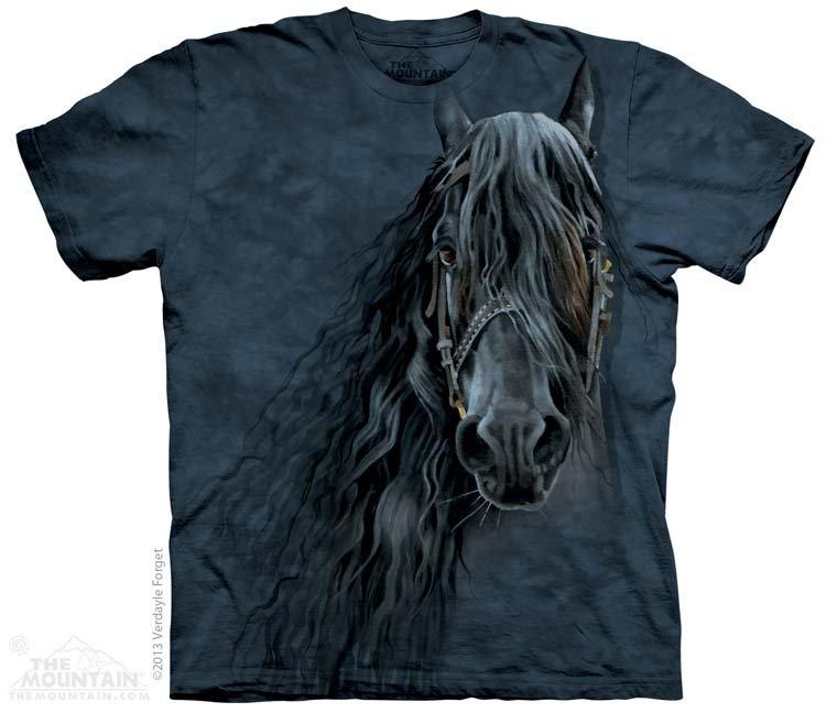 Купить The Mountain Детская футболка Forever Friesian - Портрет черной лошади
