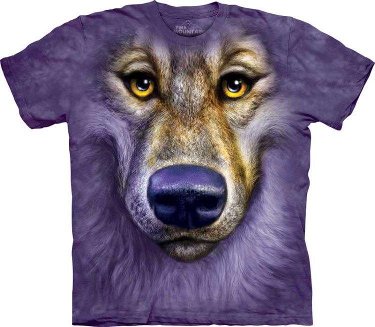 Купить The Mountain Детская футболка Friendly Wolf Face - Морда дружелюбного волка