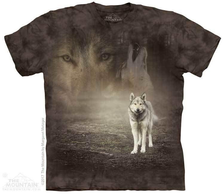 Купить The Mountain Футболка Grey Wolf Portrait - Портрет серого волка