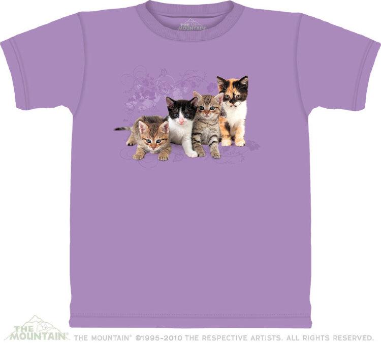 Купить The Mountain Детская футболка Kitten Row - Котята в ряд