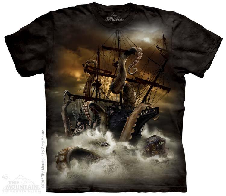 Купить The Mountain Детская футболка Kraken - Кракен (гигантский кальмар)
