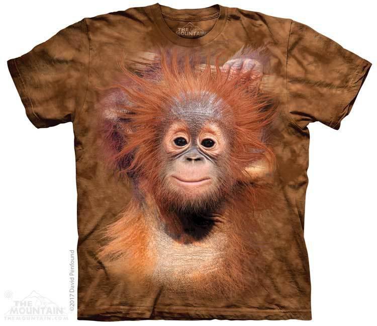 Купить The Mountain Футболка Orangutang Hang - Висящий орангутанг
