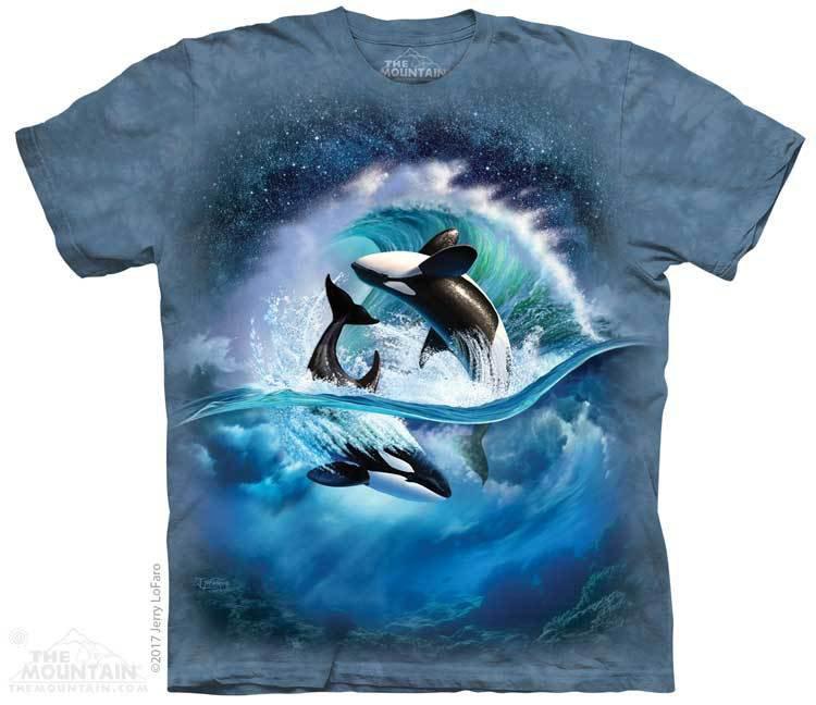 Купить The Mountain Футболка Orca Wave - Волна косатки