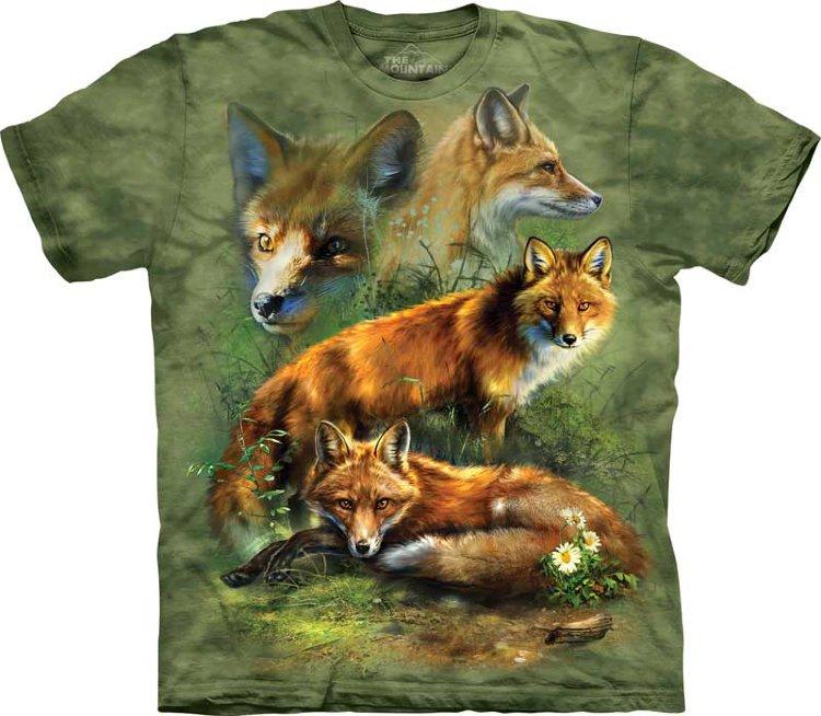 Купить The Mountain Детская футболка Red Fox Collage - Коллаж из лисиц