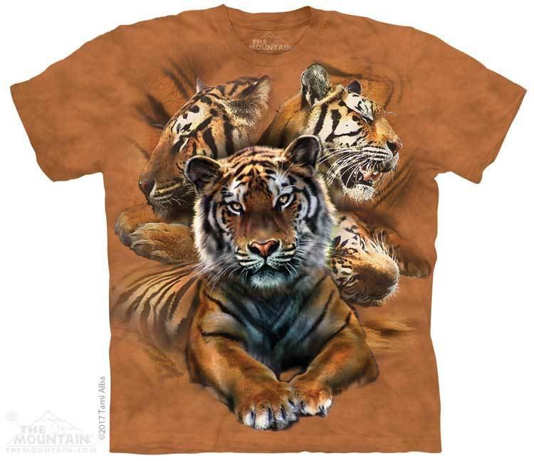 Купить The Mountain Футболка Resting Tiger Collage - Отдыхающие тигры (коллаж)