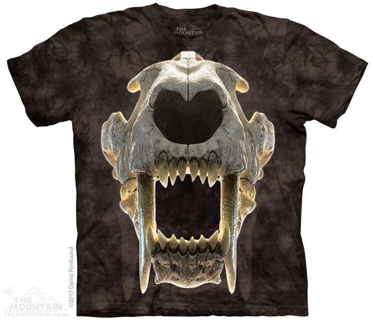 Купить The Mountain Футболка Sabertooth Skull - Череп саблезубого тигра