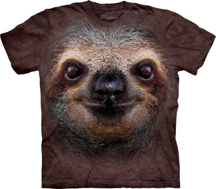 Купить The Mountain Детская футболка Sloth Face - Морда ленивца