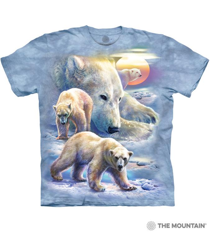 Купить The Mountain Футболка Sunrise Polar Bear - Рассвет полярных медведей
