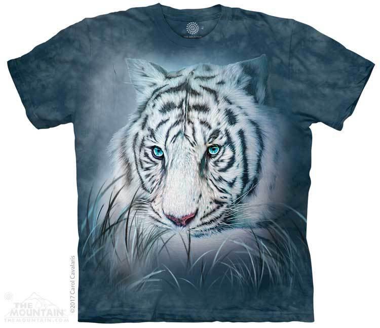 Купить The Mountain Футболка Thoughtful White Tiger - Задумчивый Белый Тигр