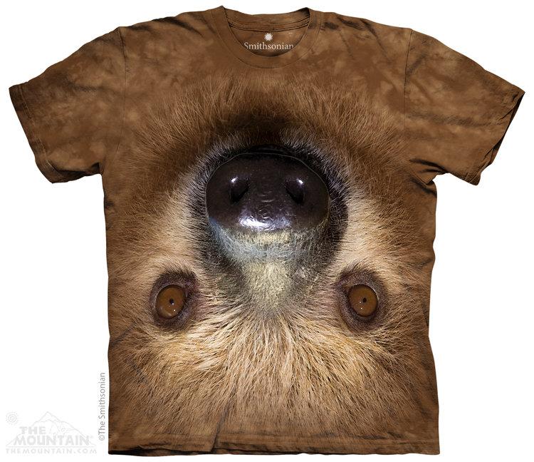 Купить The Mountain Детская футболка Upside Down Sloth - Ленивец, висящий вниз головой