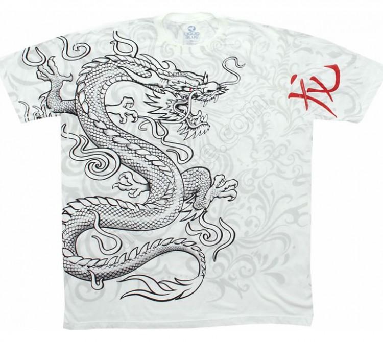 Купить Liquid Blue Футболка White Dragon - Белый дракон (двухсторонняя)
