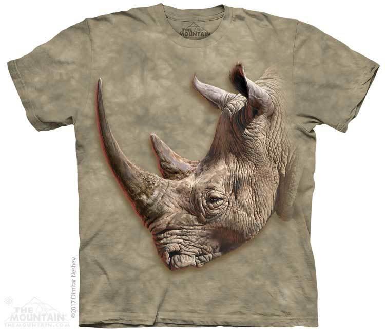Купить The Mountain Футболка White Rhino - Белый носорог