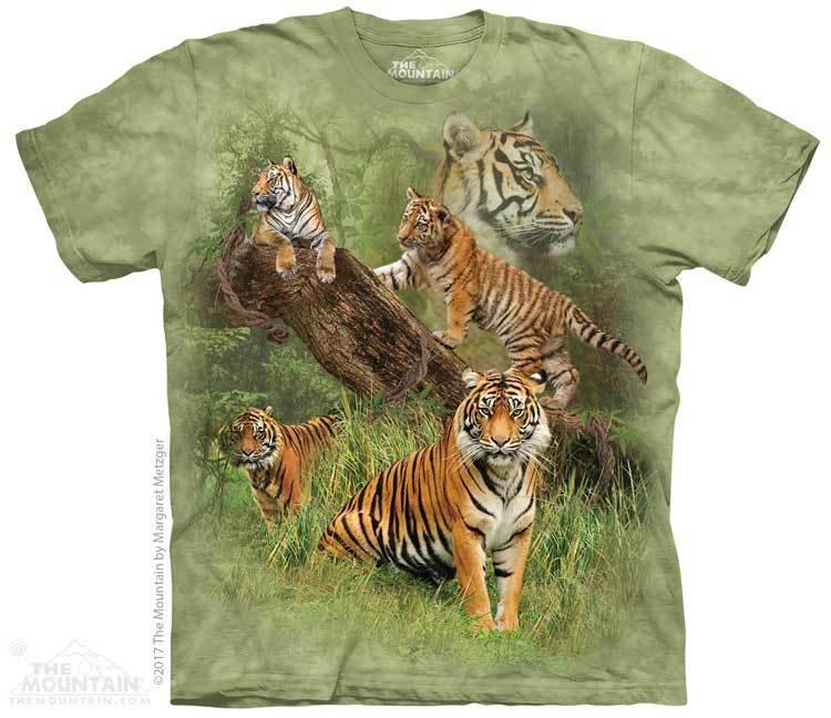 Купить The Mountain Футболка Wild Tiger Collage - Дикие тигры (коллаж)