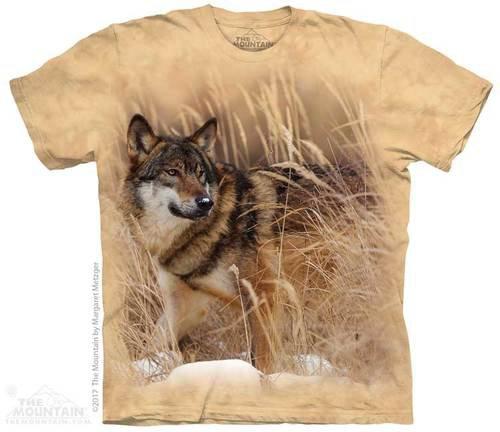 Купить The Mountain Футболка Winter Wolf Portrait - Зимний портрет волка