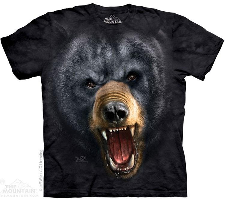Купить The Mountain Футболка Aggressive Nature Black Bear - Агрессивный черный медведь