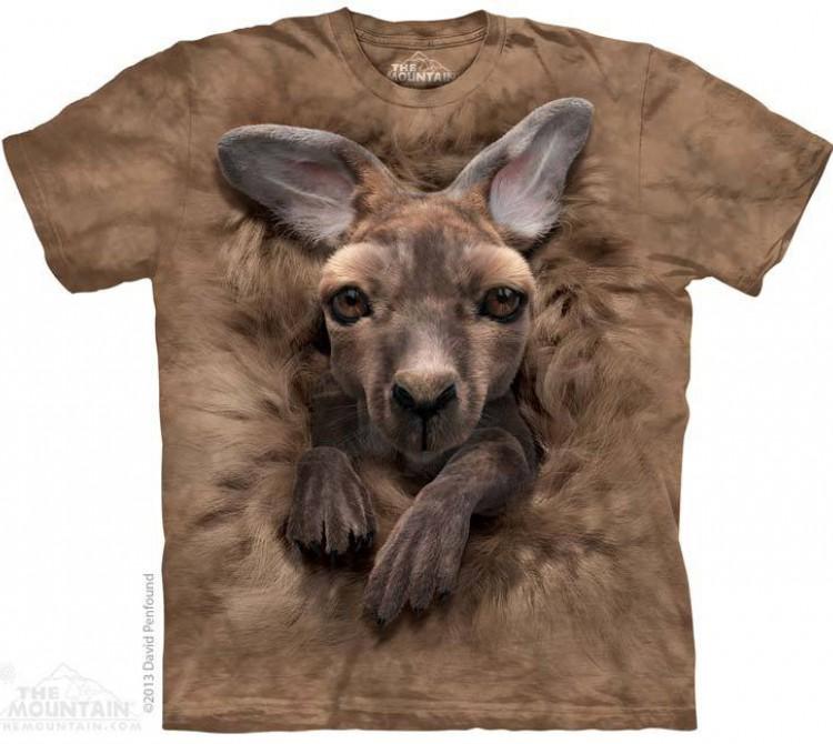 Купить The Mountain Футболка Baby Kangaroo - Кенгуренок в сумке