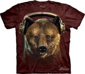 Купить The Mountain Футболка DJ Hoops - Диджей медведь