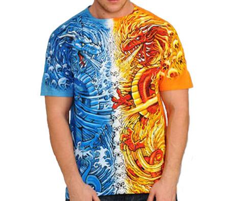 Купить Liquid Blue Футболка Water-Fire Dragon - Водный и Огненный дракон (двухсторонняя)