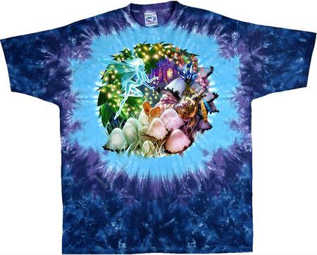 Купить Liquid Blue Футболка Mushroom Garden - Сад грибов (двухсторонняя)