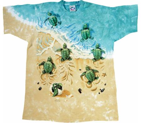 Купить Liquid Blue Футболка Turtle beach - Черепашки на пляже (двухсторонняя)
