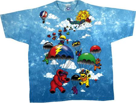 Купить Liquid Blue Футболка Parachuting bears - Медвежата парашютисты (двухсторонняя)