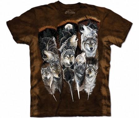 Купить The Mountain Футболка Wolf Feathers - Крылатые волки