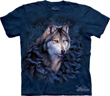 Купить The Mountain Футболка Wolf in Blue Foliage - Волк в синей листве