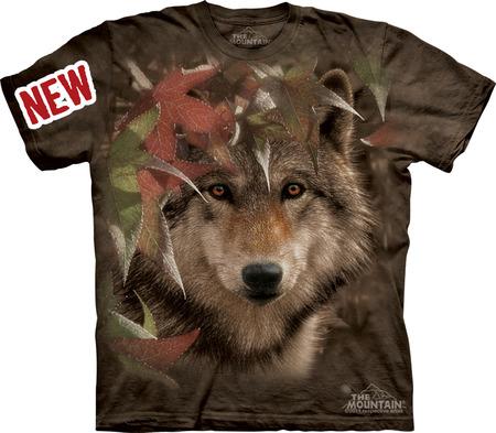 Купить The Mountain Футболка Autumn Encounter - Волк в листве