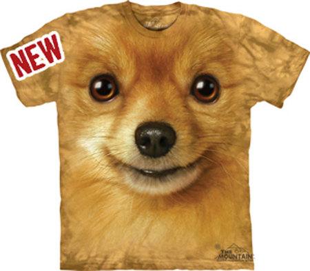 Купить The Mountain Футболка Pomeranian Face - Морда померанского шпица