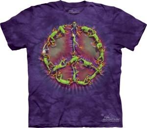 Купить The Mountain Футболка Frog Peace Dye - Символ пацифики из лягушек