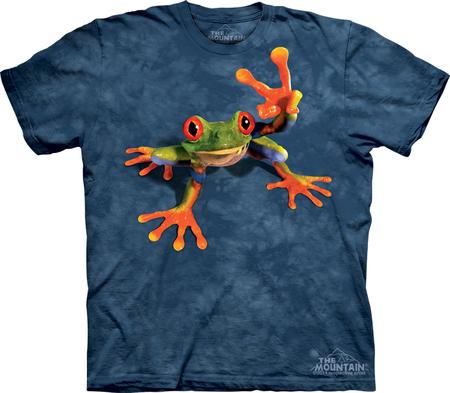 Купить The Mountain Футболка Victory Frog - Лягушка показывающая символ виктори