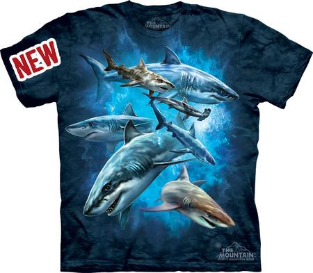Купить The Mountain Футболка Shark Collage - Акулы