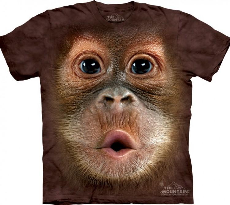 Купить The Mountain Футболка Big Face Baby Orangutan - Морда детеныша орангутана
